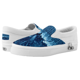 Indigo Blue Unisex Sneaker Printed Shoes