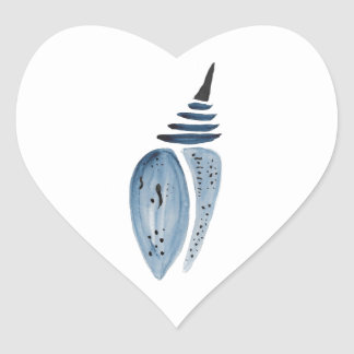 Indigo Cocoon Heart Sticker