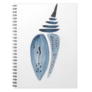 Indigo Cocoon Spiral Notebook