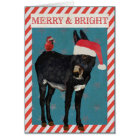 INDIGO DONKEY & BIRD Christmas CARD