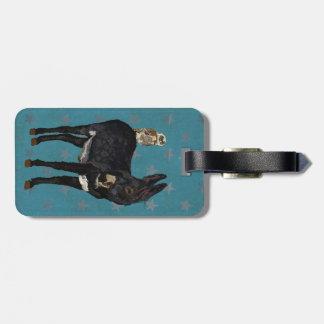 INDIGO DONKEY & OWL Luggage Tag