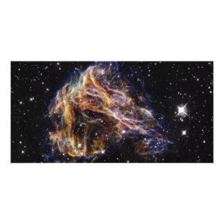 Indigo Edged Stellar Debris Cloud Picture Card