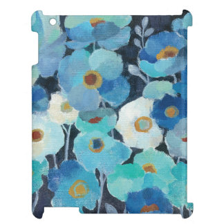 Indigo Flowers Cover For The iPad