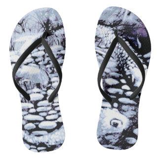 Indigo Koi Flip Flops