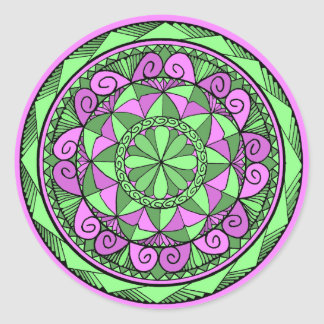 Indigo Mandala Classic Round Sticker