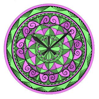 Indigo Mandala Large Clock