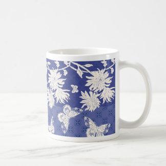 Indigo Mums Coffee Mug