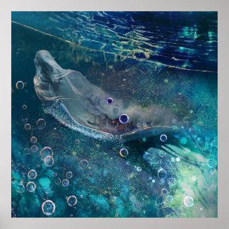 Indigo Mystique Underwater Mermaid Poster