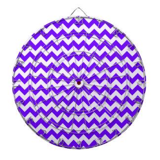 Indigo, Purple, Chevron Stripes Dart Boards