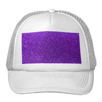 Indigo purple glitter mesh hat