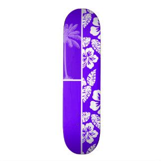 Indigo, Purple Hawaiian Palm Tree Skate Board Deck