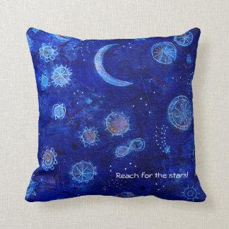 Indigo reach for the stars! cushion