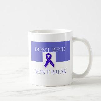 Indigo Ribbon -Don't Bend Don't Break Coffee Mug