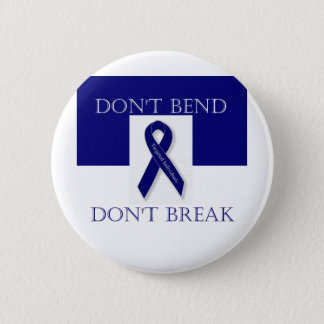 Indigo Ribbon- Don't Bend. Don't Break. DBI 6 Cm Round Badge