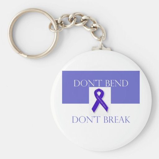 Indigo Ribbon -Don't Bend Don't Break Key Chains