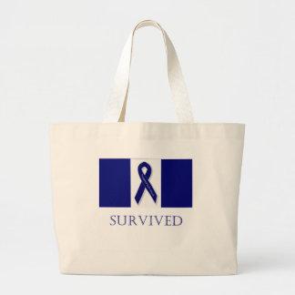 Indigo Ribbon- I Survived. DBI Bag