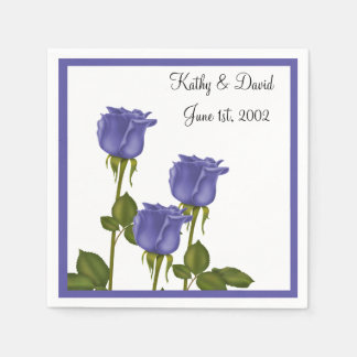 Indigo Roses (Wedding) Disposable Napkins