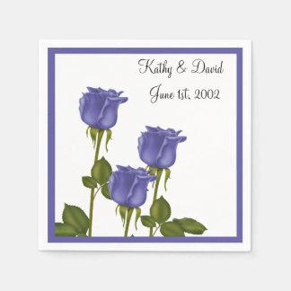 Indigo Roses (Wedding) Disposable Serviette