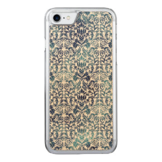 Indigo Shibori Damask Distressed Blue Purple Carved iPhone 7 Case