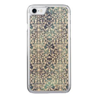 Indigo Shibori Damask Distressed Blue Purple Carved iPhone 8/7 Case