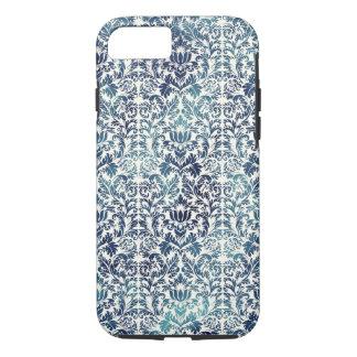 Indigo Shibori Damask Distressed Blue Purple iPhone 7 Case