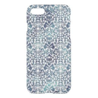Indigo Shibori Denim Damask Distressed Blue Purple iPhone 8/7 Case