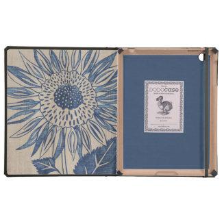 Indigo Sunflower Covers For iPad