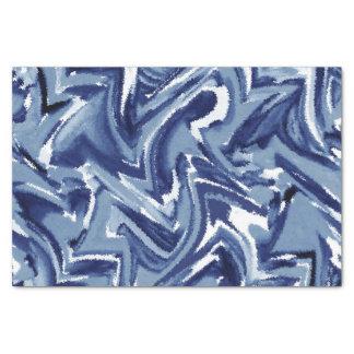 Indigo Watercolor Abstract Tissue Paper