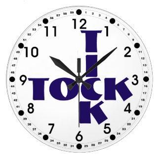 Indigot Crossword Tick Tock Text Large Clock