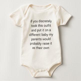 indiscernible baby bodysuit