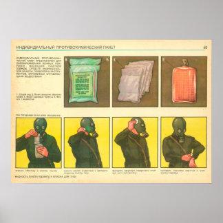 individual anti-chemical pack poster