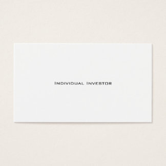 Individual Investor business cards