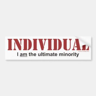 Individual...The Ultimate Minority Bumper Sticker