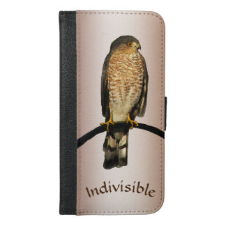 Indivisible Brown Hawk iPhone 6 Plus Wallet Case