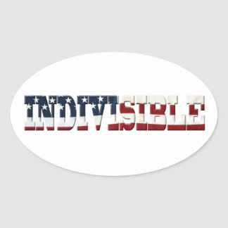 INDIVISIBLE flag Oval Sticker