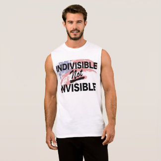 Indivisible NOT Invisible Mens Sleeve-less Sleeveless Shirt