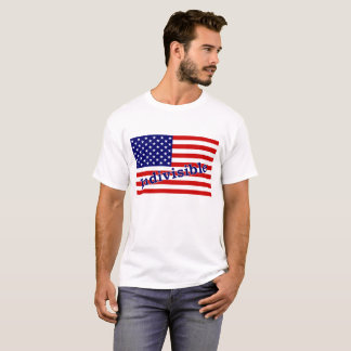 """Indivisible T-shirt with """"Indivisible"""" on flag"""