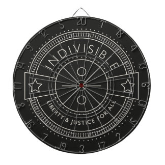 Indivisible, with liberty and justice for all. dartboard