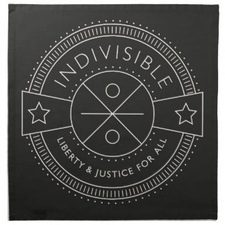 Indivisible, with liberty and justice for all. napkin
