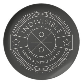 Indivisible, with liberty and justice for all. plate
