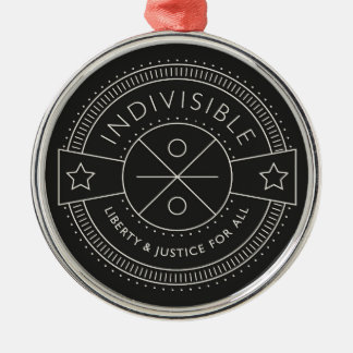 Indivisible, with liberty and justice for all. Silver-Colored round decoration