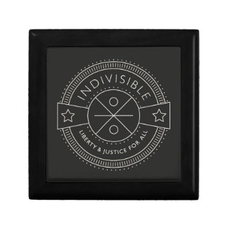 Indivisible, with liberty and justice for all. small square gift box