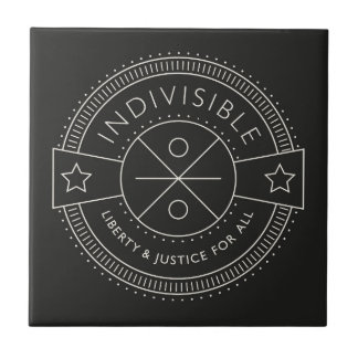 Indivisible, with liberty and justice for all. tile