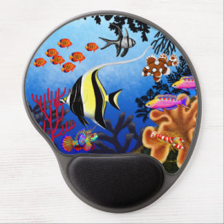 Indo Pacific Coral Reef Fish Gel Mousepad
