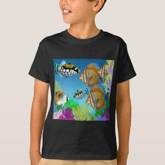 Indo Pacific Reef Fish Kids Dark T-Shirt