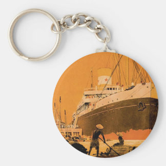 Indochine Chargeurs Reunis Basic Round Button Key Ring