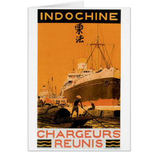 Indochine Chargeurs Reunis Greeting Card