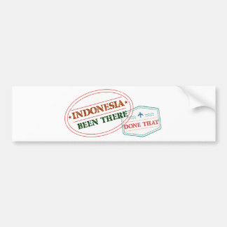 Indonesia Been There Done That Bumper Sticker