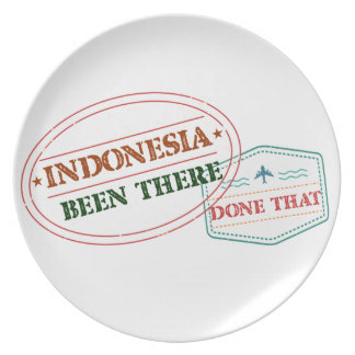 Indonesia Been There Done That Plate