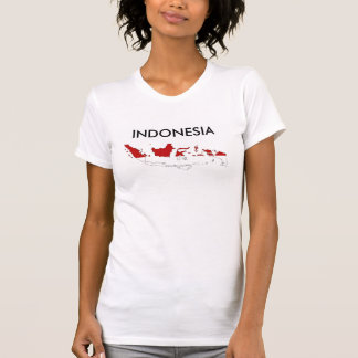Indonesia country flag map shape silhouette T-Shirt
